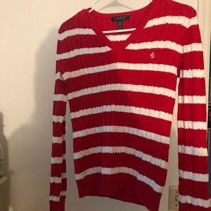 Lauren Ralph Lauren sweater red & white XS